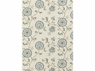 LEE JOFA SWANBOROUGH EMBROIDERED FLORAL COTTON LINEN FABRIC DELFT TAUPE STONE