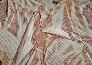 LEE JOFA THISTLE STRIPES SILK FABRIC ROSE CREAM