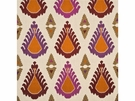 LEE JOFA THREADS EXUBERANCE EMBROIDERED IKAT KILIM FABRIC RUSSET SIENNA