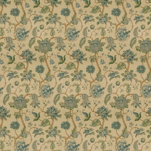 LEE JOFA TIDEWATER BLOCK FABRIC BLUE