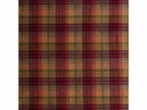 LEE JOFA VELVET ANCIENT TARTAN PLAID FABRIC PLUM