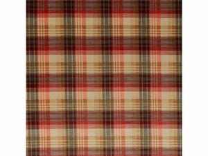 LEE JOFA VELVET ANCIENT TARTAN PLAID FABRIC SPICE