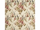 LEE JOFA VINTAGE FLORAL LINEN FABRIC ANTIQUE ROSE