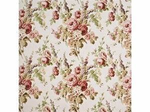 LEE JOFA VINTAGE FLORAL LINEN FABRIC PINK GREEN STONE