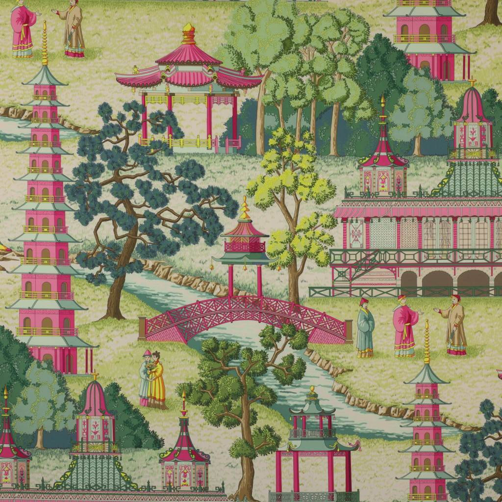 21 Best Toile Wall Paper Images On Pinterest: MANUEL CANOVAS ASIAN CHINOISERIE TOILE FABRIC 10 YARDS