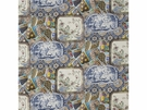 MULBERRY CHINA LINEN PRINT FABRIC MULTI