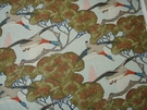 LEE JOFA MULBERRY FLYING DUCKS LINEN MULTIPURPOSE PRINT FABRIC SKY