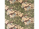 LEE JOFA MULBERRY FLYING DUCKS VELVET MULTIPURPOSE PRINT FABRIC CAMEL