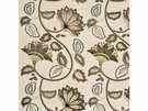 MULBERRY HOME ANASTASIA LINEN FABRIC LEAF STONE