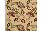 MULBERRY HOME ANASTASIA SILK/LINEN FABRIC RED GOLD