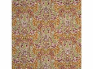MULBERRY HOME HEIRLOOM PAISLEY FABRIC PAPRIKA LEAF