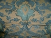 MULBERRY WATERCOLOUR DAMASK FABRIC PETROL/BRONZE