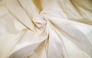 PASARI IMPERIAL SILK TAFFETA FABRIC IVORY CREAM