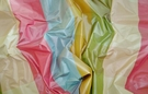 PASARI KATERINA SILK CHECK TAFFETA FABRIC 30 YARD BOLT PINK BLUE GREEN MULTI