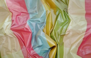 PASARI KATERINA SILK CHECK TAFFETA FABRIC PINK BLUE GREEN MULTI