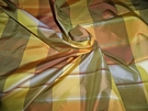 PASARI MANGO CHECK PLAID SILK TAFFETA MANGO ORANGE PERSIMMONS