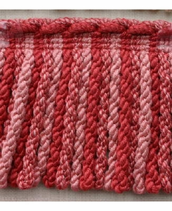 PASSEMENTERIE BULLION/FRINGE VISCOSE TRIM PINK FROM ITALY