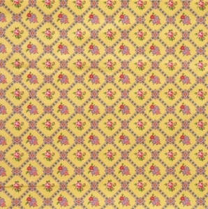 PIERRE DEUX KRAVET FRENCH COUNTY PETITE FLORAL DIAMONDS TOILE FABRIC 10 YARDS YELLOW MULTI