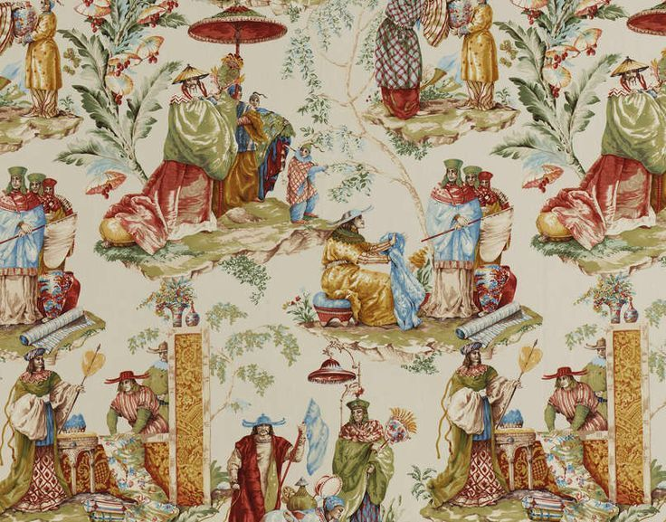 Pierre frey chinoiserie le marchand d 39 etoffes fabric cream for Pierre frey fabric