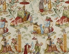 PIERRE FREY CHINOISERIE LE MARCHAND D'ETOFFES FABRIC CREAM MULTI