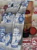 PIERRE FREY CHINOISERIE MING VASES TOILE FABRIC BLEU DE CHINE