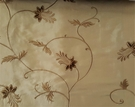 PINDLER EMBROIDERED VELVET TAFFETA FABRIC FRENCH VANILLA 50 YARDS