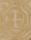 POLLACK ASIAN CHINOISERIE BELGIUM CUT VELVET FABRIC CARAMEL NATURAL