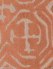 POLLACK ASIAN CHINOISERIE BELGIUM CUT VELVET FABRIC CINNAMON NATURAL