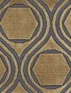 POLLACK CONTEMPORARY & MODERN GEOMETRIC CUT VELVET FABRIC ANTIQUE GOLD