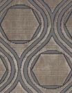 POLLACK CONTEMPORARY & MODERN GEOMETRIC CUT VELVET FABRIC DIAMOND