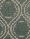 POLLACK CONTEMPORARY & MODERN GEOMETRIC CUT VELVET FABRIC JADE