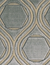 POLLACK CONTEMPORARY & MODERN GEOMETRIC CUT VELVET FABRIC OPAL SPA