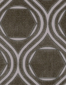 POLLACK CONTEMPORARY & MODERN GEOMETRIC CUT VELVET FABRIC PATINA