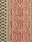 POLLACK ETHNIC CHIC EMBELLISHED EMBROIDERED LINEN FABRIC HOT PINK MULTI