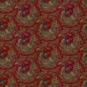 RALPH LAUREN AINSWORTH COTTON PRINT FABRIC CANTEBURY RED