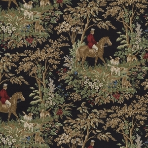 RALPH LAUREN AINSWORTH COTTON PRINT FABRIC ONYX