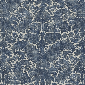 RALPH LAUREN ANTIBES BATIK PRINT LINEN FABRIC DENIM