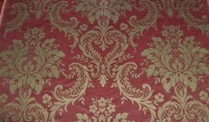 RALPH LAUREN BAROQUE CASTLETON DAMASK VELVET FABRIC 7 YARDS