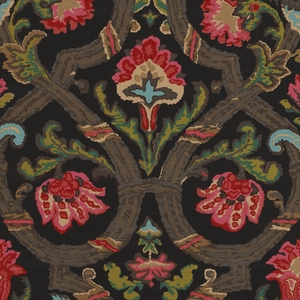 RALPH LAUREN CADIZ FLORAL FABRIC BLACK MULTI