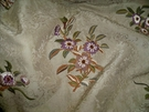 RALPH LAUREN CALTON LEES EMBROIDERED SILK COTTON DAMASK FABRIC 3.5 YARDS