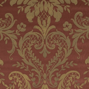 RALPH LAUREN CASTLETON DAMASK VELVET FABRIC MULBERRY