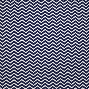 RALPH LAUREN CHERBOURG CHEVRON FABRIC NAVY