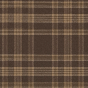 RALPH LAUREN DEERPATH TRAIL WOOL PLAID FABRIC RUSSET