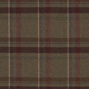 RALPH LAUREN HEATHLAND PLAID WOOL FABRIC JUNIPER