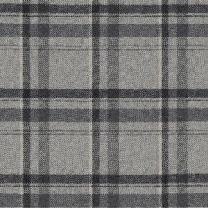 RALPH LAUREN HEATHLAND PLAID WOOL FABRIC SMOKE