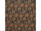 RALPH LAUREN HOME PAISLEY COTTON FABRIC BLACK MULTI
