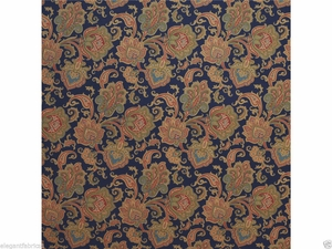 RALPH LAUREN HOME PAISLEY COTTON FABRIC SAPPHIRE NAVY MULTI