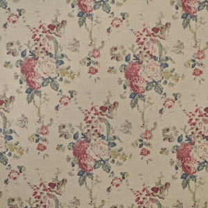 RALPH LAUREN JARDIN BOUQUESTS FLORAL FABRIC SUMMER LINEN