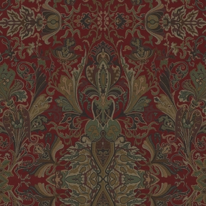 RALPH LAUREN LAKOTA PAISLEY FABRIC CANTERBURY RED
