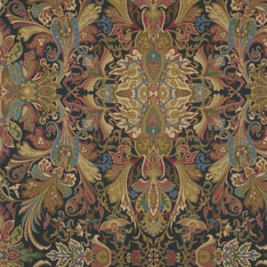 RALPH LAUREN LAKOTA PAISLEY FABRIC IMPERIAL BLUE